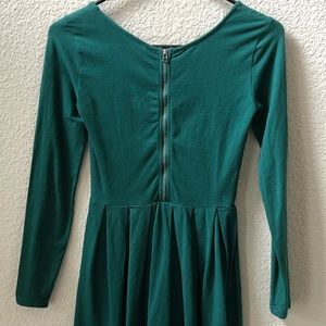 Long Sleeve Dress with Detail Back Zipper
